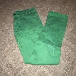 Green Levi jeans